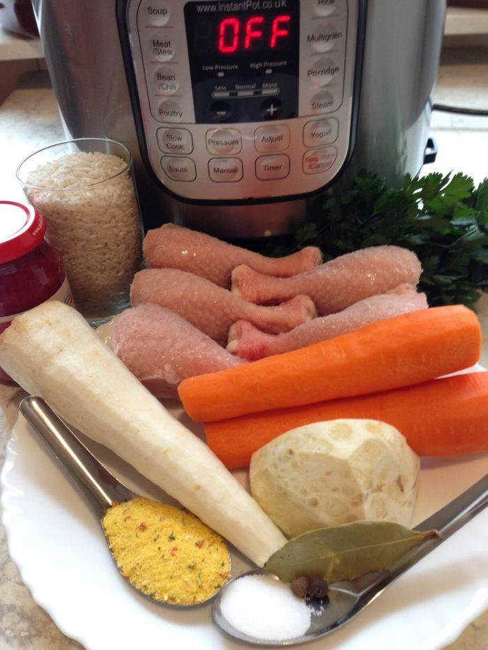 składniki na zupę pomidorową w szybkowarze instant pot