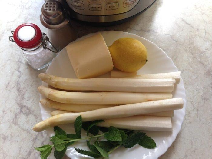 skladniki na szparagi w masle w instant pot