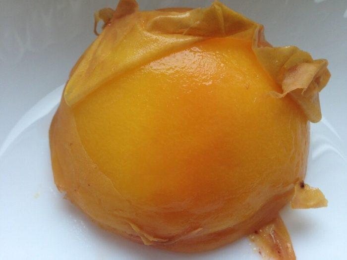 sparzona skura brzoskwini - dżem w instantpocie