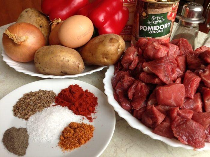 składniki na bogracz do przygotowania w instantpot