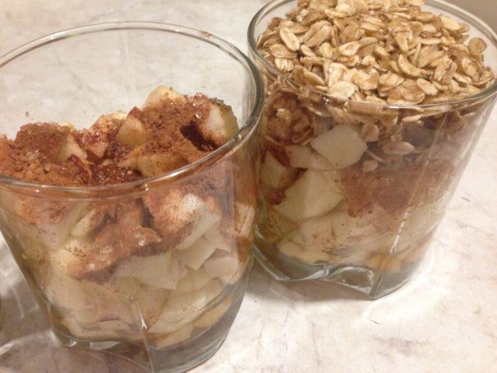 deser w szklankach przed wsadzeniem do instantpota