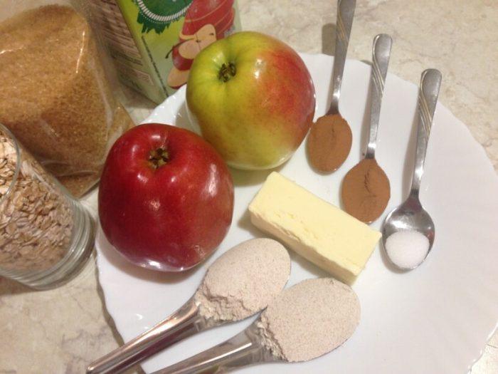 składniki na deser z jabłek w instantpot