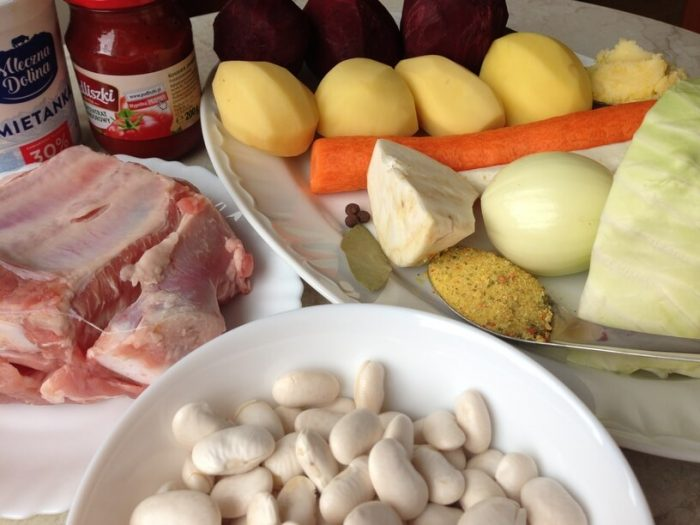 składniki na barszcz ukraiński w instant pot