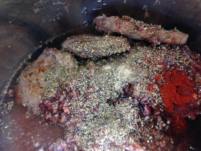 wszytskie składniki w garnku instantpot