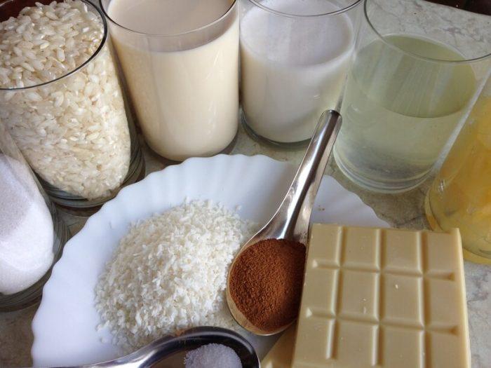przygotowane skłdniki na pina colade - deser z ryżem w instantpot