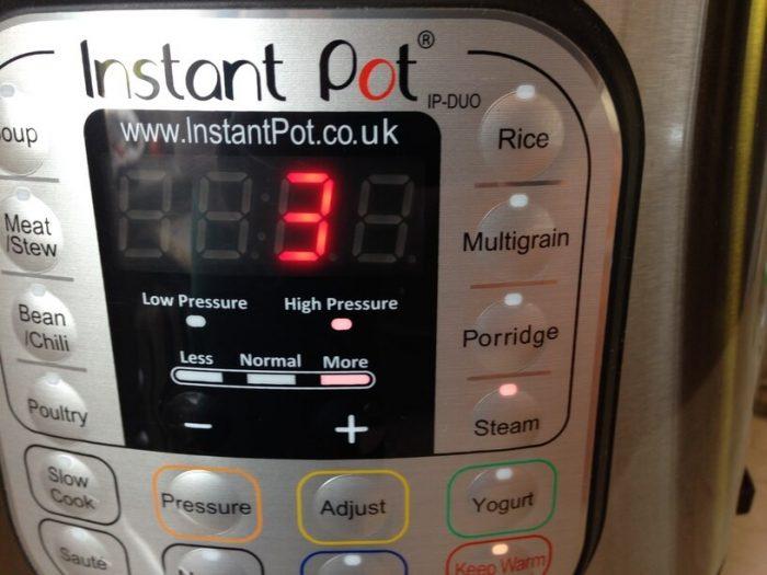 panel główny sterowania instantpotem