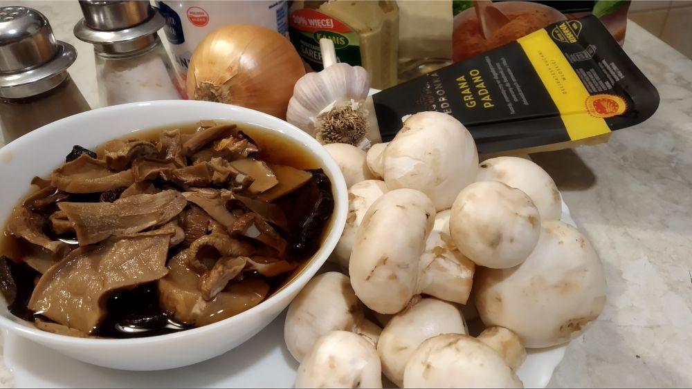 składniki na risotto z grzybami w instant pot