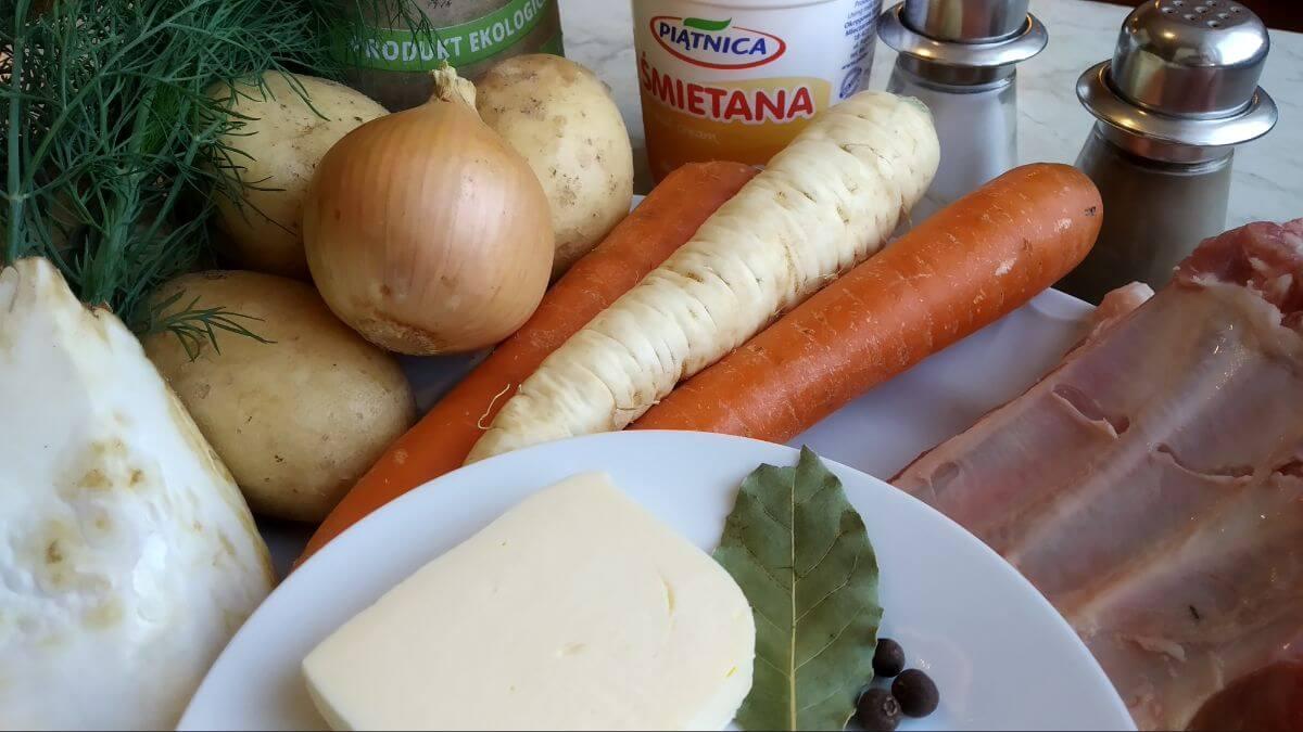 składniki na zupę ogórkową - instant pot club