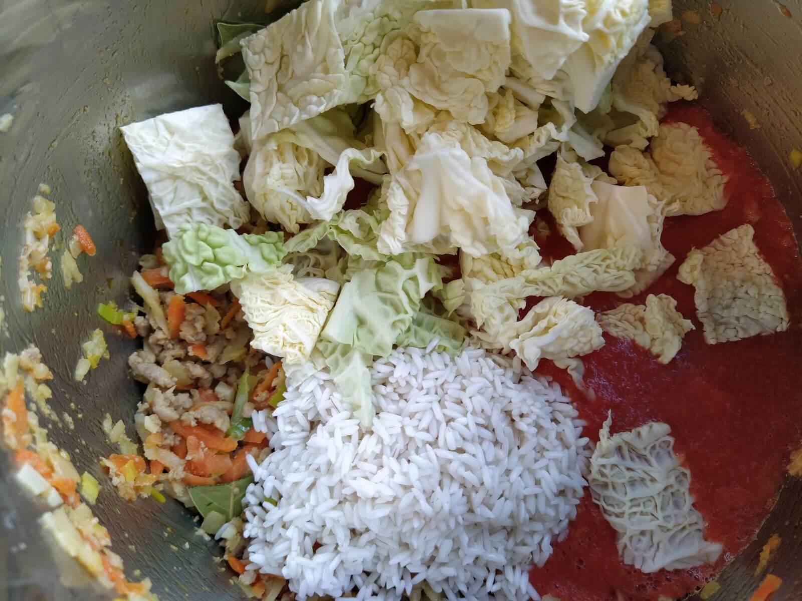 kapusta i ryż w garnku instant pota